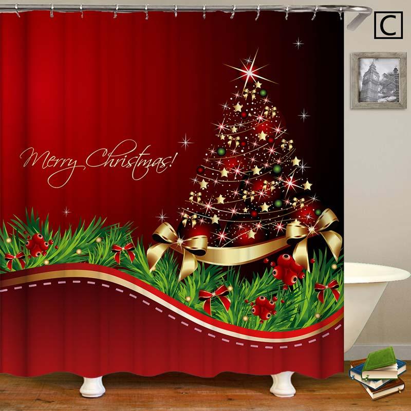 Weihnachten Duschvorhang Weihnachtsbaum Design