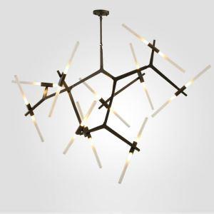 Moderne Pendelleuchte Astgabel Design aus Aluminium in Schwarz oder Gold
