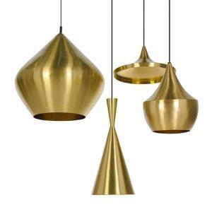 Pendellampe aus Aluminium Instrumente Design in Gold 1 flammig