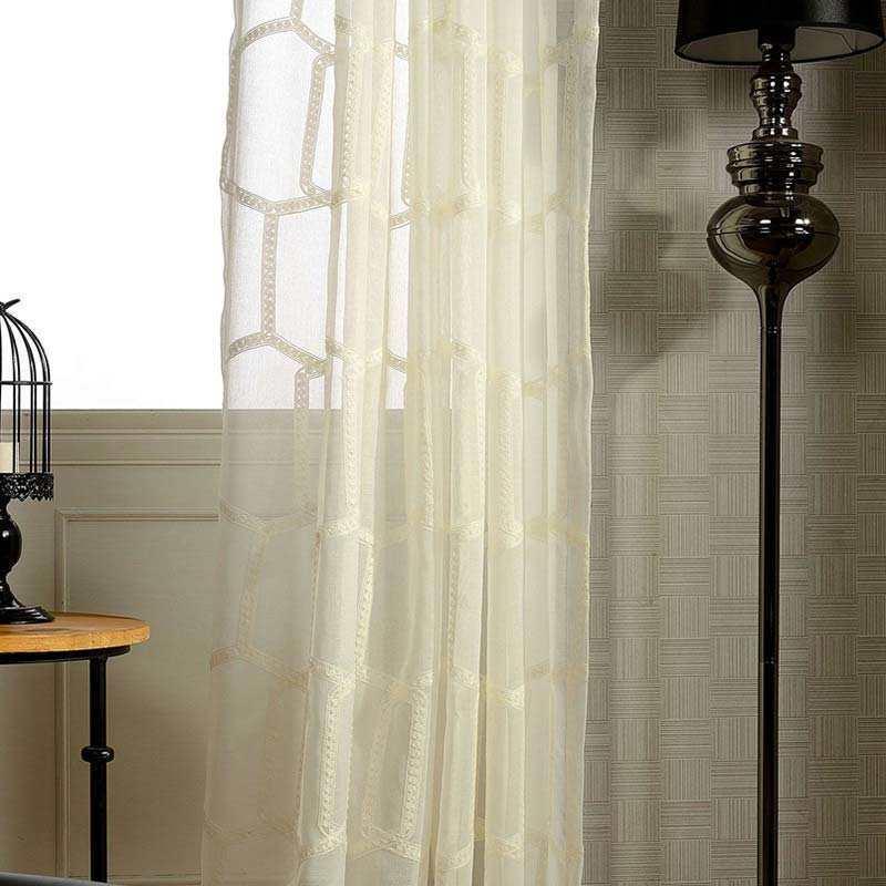 Moderne Gardine Stickerei Design für Wohnzimmer