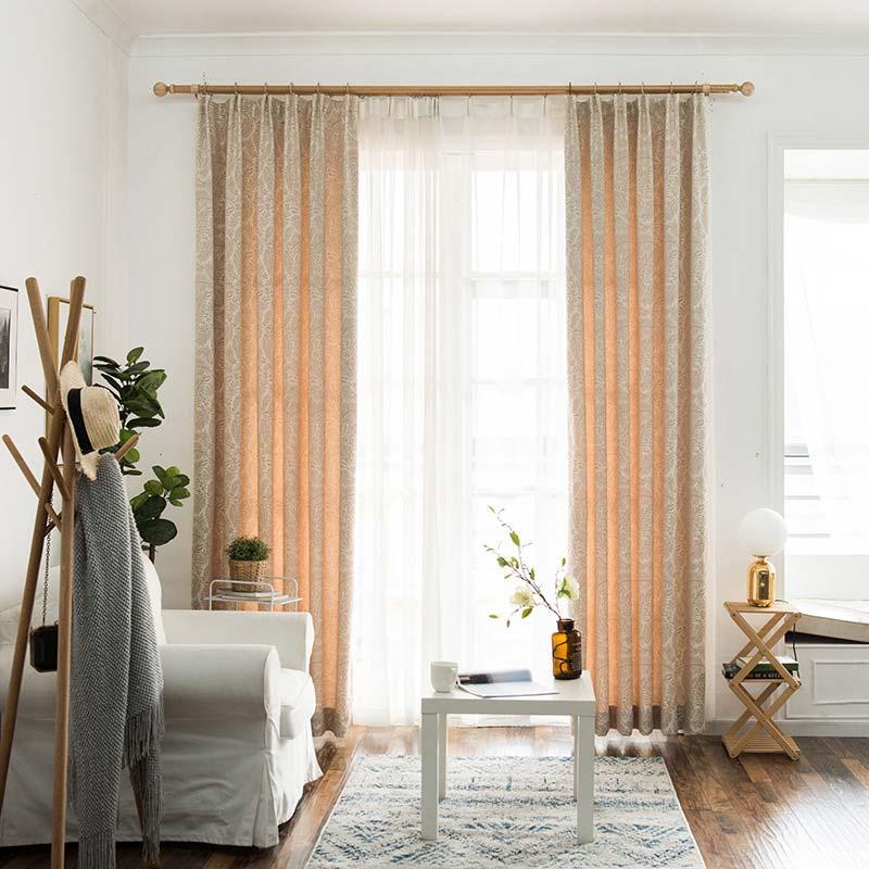 Vorhang Verdunkelung Blätter Design für Schlafzimmer