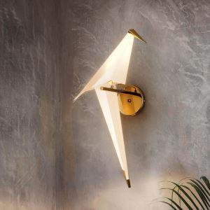 Led Wandleuchte Modern Vogel Design in Weiß