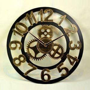 Wanduhr Lautlos Zahnrad Design aus Metall