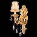 Prachtvolle Wandlampe Floral Phönix Design Gold