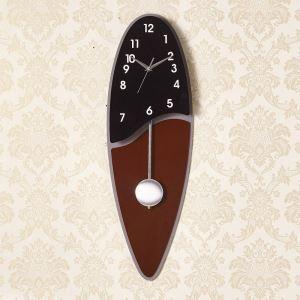 Wanduhr mit Pendel Modern Oval aus Acryl Lautlos