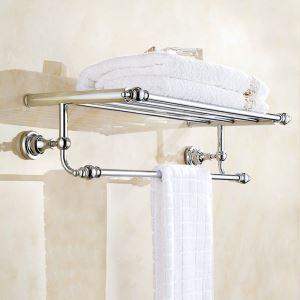 Handtuchhalter aus Messing Chrom im Badezimmer