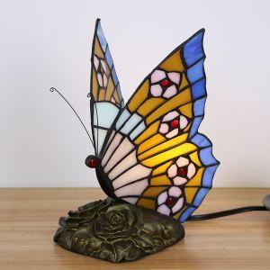 Tischlampe Tiffany Stil Schmetterling Gestaltet 1 flammig