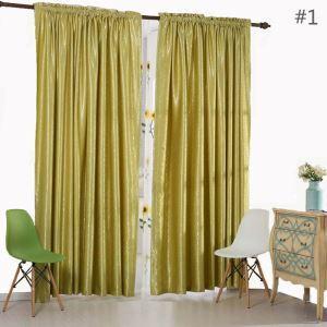 Vorhang Verdunkelung Landhaus Stil für Schlafzimmer (1er Pack)