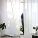 Gardine Transparent Modern in Weiß (1er Pack)