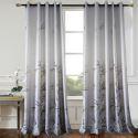 Moderner Velour Vorhang Bambus Design Grau für Wohnzimmer