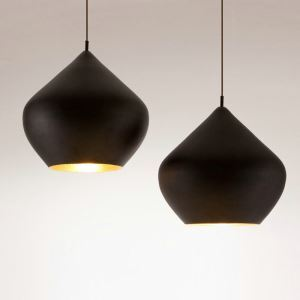 Moderne Pendelleuchte aus Aluminium Pfirsich Design 1 flammig
