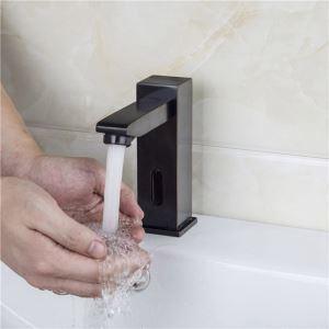 Waschtischarmatur Elektrisch aus Messing in Schwarz
