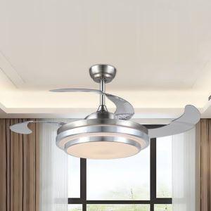 Deckenventilator mit Led Lampe 2 flammig ein- und ausklappbaren Flügelblättern
