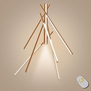 Led Pendelleuchte Dimmbar Bambus Design mit Fernbedienung-Originell Design
