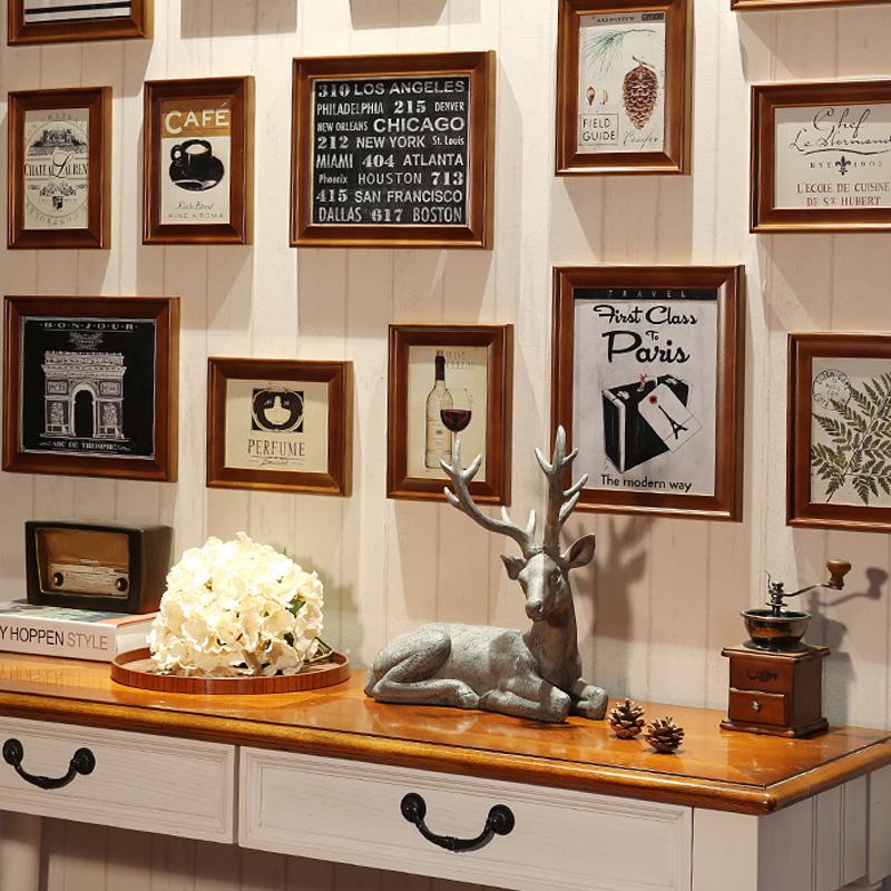 Moderne Bilderrahmen aus Holz 15er Set