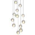 Led Pendelleuchte Kristall Kugel Transparent für Treppenhaus