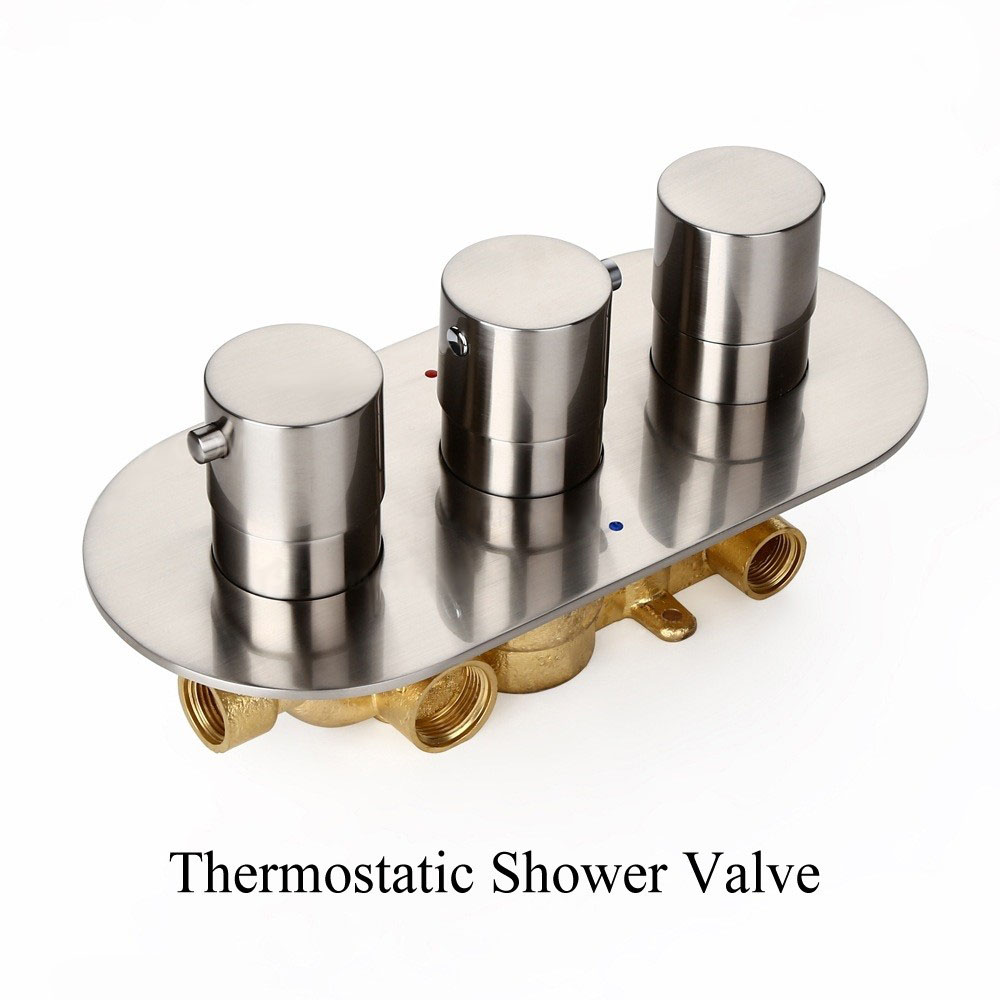 Sehr Duscharmatur Unterputz Thermostat Wandmontage Regenfall in Chrom QN97