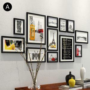 Minimalismus Wand Bilderrahmen aus Holz 12er - Set