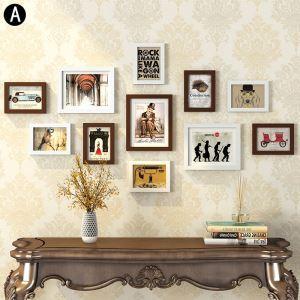 Moderne Bilderrahmen aus Holz 11er Set