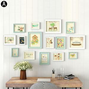 Wand Bilderrahmen aus Holz 15er - Set Moderne Sitl