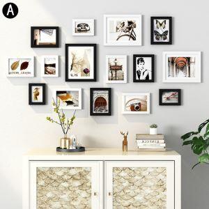 Minimalismus Wand Bilderrahmen aus Holz 15er - Set
