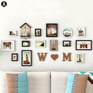 Wand Bilderrahmen Set aus Holz 13er Set