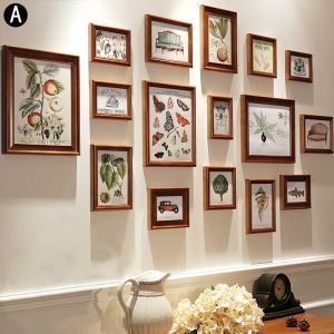 Minimalismus Bilderrahmen aus Holz 16er Set