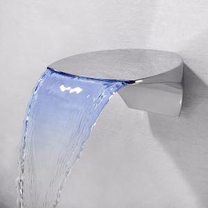 Led Waschtischarmatur Wasserfall Wandmontage in Chrom