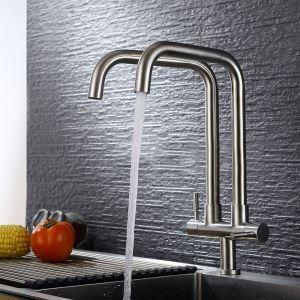 Küchenarmatur Kaltwasser Zweigriff mit 2 Auslauf