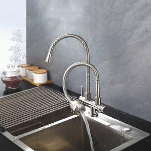 Küchenarmatur Kaltwasser mit Zweigriff Auslauf Schwenkbar