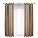 Moderner Vorhang Uni aus Polyester und Leinen für Schlafzimmer Kaffee