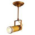 Kreative Strahler Deckenleuchte mit dem Lampenschirm aus Bambus