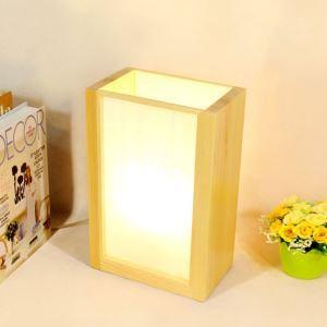 Tischleuchte aus Holz Nachtischlampe 1 flammig für Schlafzimmer