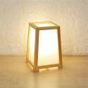 Moderne Tischlampe aus Holz Minimalismus