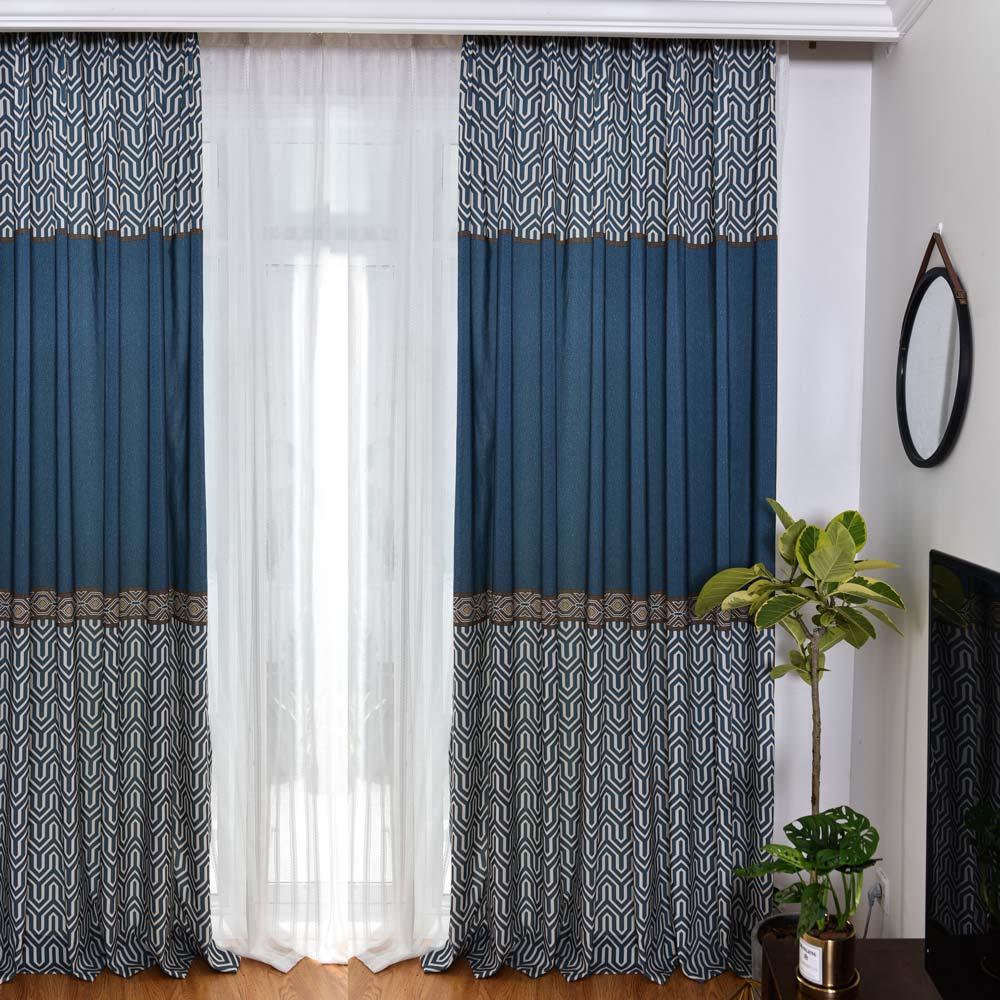 Amerikanischer Vorhang aus Polyester und Baumwolle für ...