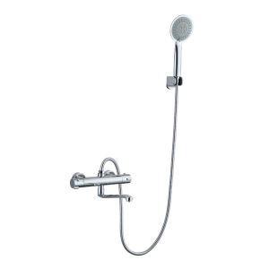 Duscharmatur Thermostat Modern mit Handbrause in Chrom