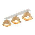 Moderne Deckenlampe Strahler mit Lampenschirm aus Holz Drehbar