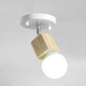 Mini Strahler aus Holz in Weiß 1 flammig