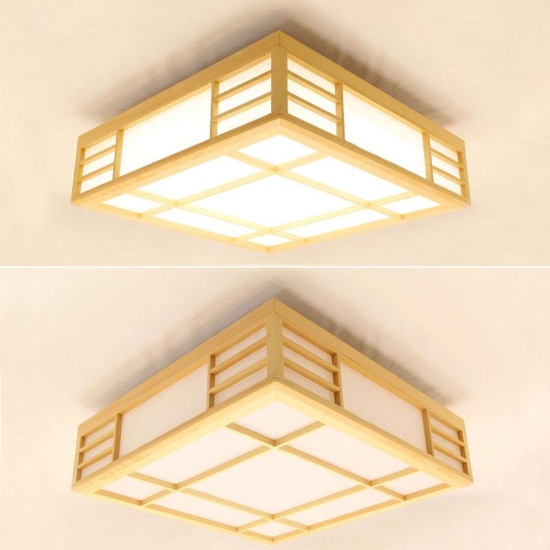 Japanische Deckenleuchte Led Aus Holz Fur Schlafzimmer