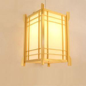 Pendelleuchte Laternen-förmige aus Holz und Acrylic Japanische Stil