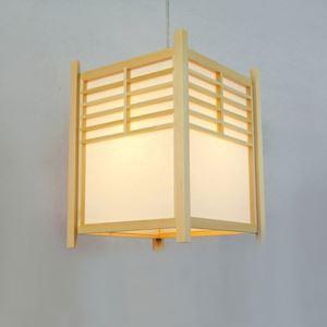 Minimalismus Pendelleuchte Laternen-förmige aus Holz und Acrylic