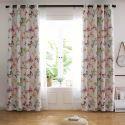 Vorhang Schmetterling aus Polyester und Leinen für Schlafzimmer Landhausstil