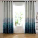 Moderner Vorhang mit Landschaftsmalerei aus Polyester für Schlafzimmer