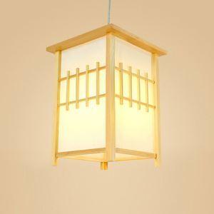 Japanische Pendelleuchte Laternen-förmige aus Holz und Acrylic