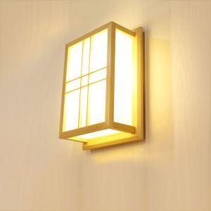 Wandlampe aus Holz und Acrylic Japanisch Stil