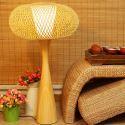 Kreative Bambus Tischlampe Pilz Design für Wohnzimmer
