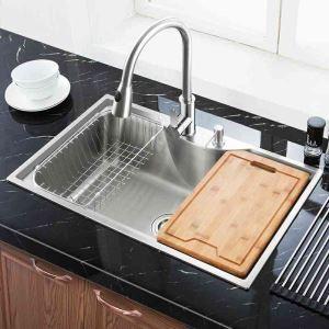 Moderne Einbauspüle Edelstahl Spülbecken ecikg für Küche MF7848B