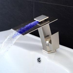 Waschtischarmatur Wasserfall Einhand aus Messing