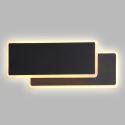Led Wandleuchte Eckiges Design in Schwarz für Schlafzimmer