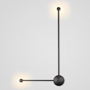 Led Wandleuchte Modern Rechtwinkliges Design in Schwarz